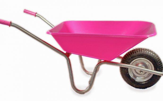 садовая - ТАЧКА садовая г/п 120 кг, метал.рама, пластик.корыто